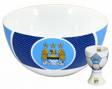 Man City Bowl & Egg Cup Manchester City