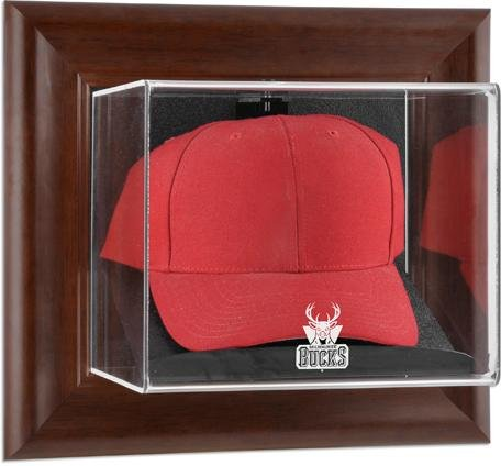 (Milwaukee Bucks Brown Framed Wall Mounted Cap)