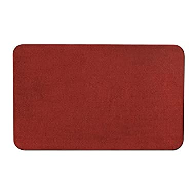Skid-resistant Carpet Indoor Area Rug Floor Mat - Brick Red - 3' X 5' - Many Other Sizes to Choose From