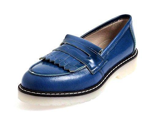 Bleu Mocassins 40 Italie Chaussures Bleu Femmes Eu 9506 En Blackone Mocassin Cuir HzTq1Xxw