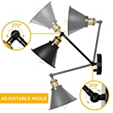 HAITRAL Sconces Wall Lighting-Dimmable Swing Arm