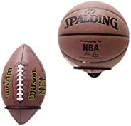 Suchek Ball Holder Rack Wall Mount, Display Wall Storage for Soccer, Basketball, Volleyball, Rugby, Football (