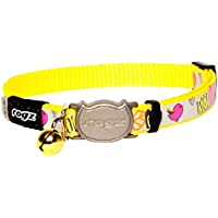 Rogz Reflectocat Safeloc Collar Dayglo 8mm