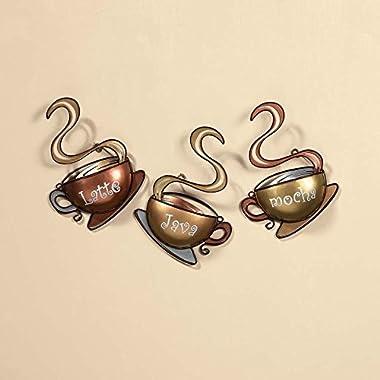 Coffee House Cup Mug Latte Java Mocha Metal Wall Art Home Decor (1, DESIGN 1)