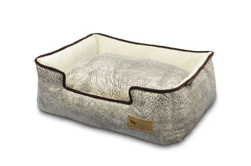 P.L.A.Y. Pet Lifestyle and You Savannah Grey Lounge Bed for Dogs, X-Large