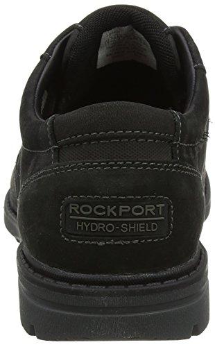 Tough Plain Black Cordones de Zapatos para Toe Rockport Bucks Hombre 2 Oxford Negro gfwqEd7