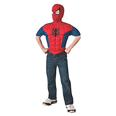 Rubie's Marvel, Ultimate Spider-Man EVA Child Muscle Chest Shirt and Mask: Toys & Games