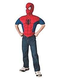 Rubies Marvel, Ultimate Spider-Man EVA Child Muscle Chest Shirt and Mask