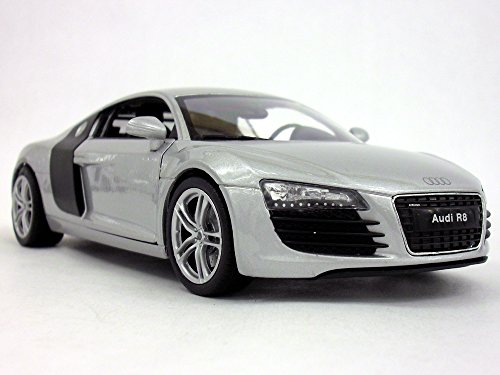 Audi R8 1/24 Scale Diecast Metal Model - SILVER
