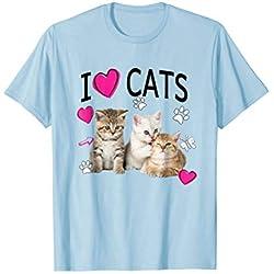 I Love Cats Shirt | Cat lover Tee - I love Kittens T-shirt