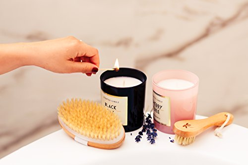 Premium Dry Brushing Body Brush Set- Natural Boar Bristle Body Brush, Exfoliating Face Brush & One Pair Bath & Shower Gloves. Free Bag & How To – Great Gift For A Glowing Skin & Healthy Body by Belula (Image #8)