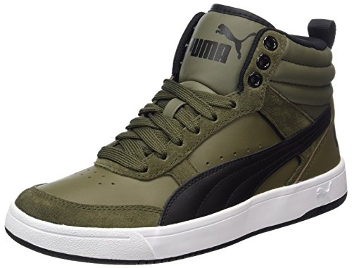 Adulte Olive Street Mixte Night black Vert Basses Puma Rebound Sneakers V2 86fqwgw4