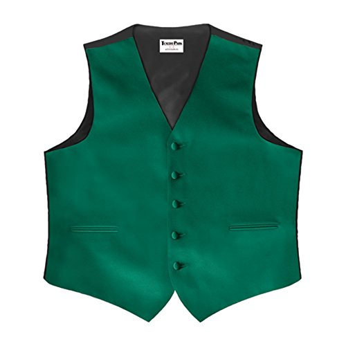 Emerald Satin 5 Button Full Back Vest