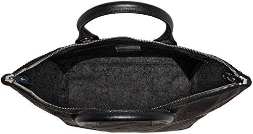 JOOP! Damen Satin Venja Handbag Mhz Henkeltasche, Grau (Dark Grey), 13,5x45x25 cm