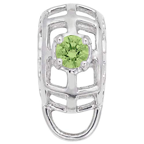 Rembrandt Charms, Caged August Stone Charm Drop.925 Sterling ()