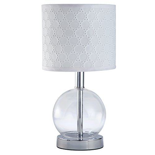 Carter's Lily Lamp Base and Shade, White