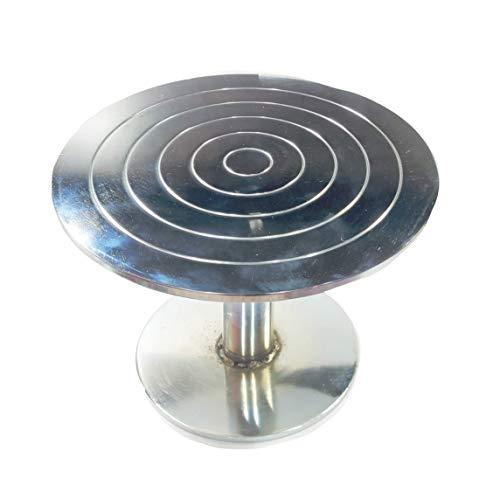 Taj Stainless Steel Turntable Cake Stand Silver (25 cm) Price & Reviews
