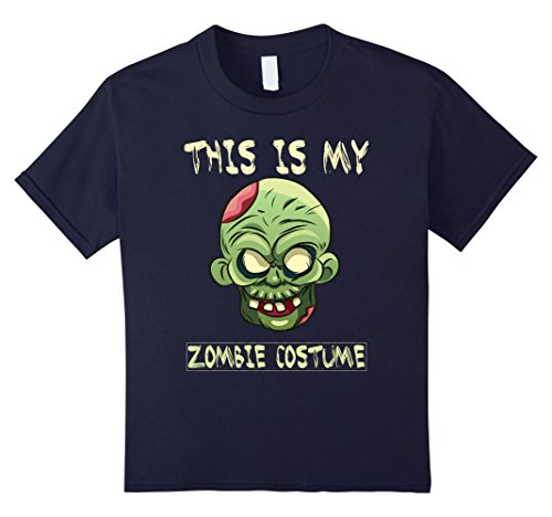 Kids This is my Zombie Costume Funny Halloween T-Shirt 12 (Easy Frat Halloween Costumes)