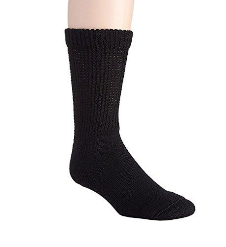 Salk HealthDri Comfortable Diabetic Socks (3555) M/Black