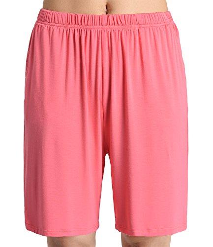 Latuza Women's Soft Sleep Pajama Shorts 2X Watermelon A