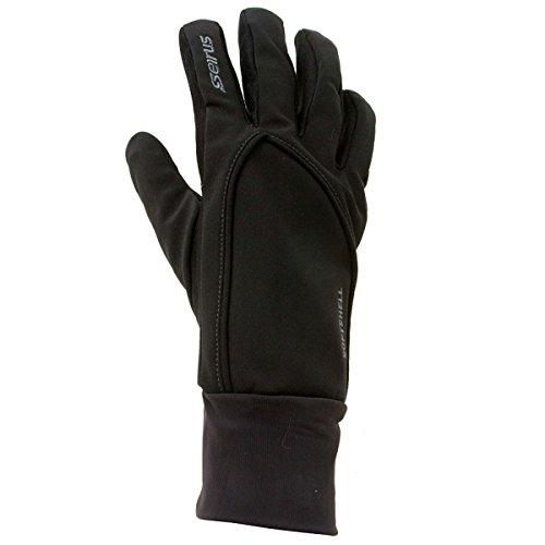 Seirus Innovations Soft Shell - Seirus Innovation 1414 Mens Softshell Lite Polartec Waterproof Glove with Microfleece Lining, Black, Small/Medium