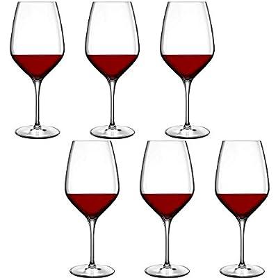 Luigi Bormioli Atelier Cabernet/Merlot Wine Glass, 23-3/4-Ounce, Set of 6