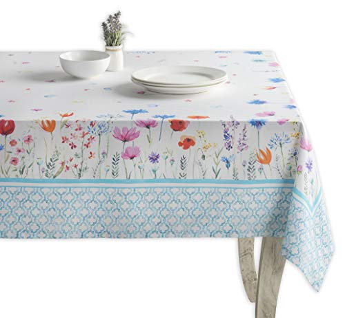 Maison d' Hermine Flower in The Field 100% Cotton Tablecloth 60 Inch by 120 Inch