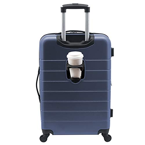 Wrangler 20' Smart Spinner Carry-On Luggage With Usb Charging Port, 20 Inch Carry-On, Navy Blue