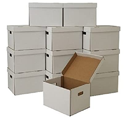 Cheap Cheap Moving Boxes 16 x 12.5 x 10 Inches Storage/File Boxes with Attached  sc 1 st  Amazon.com & Amazon.com : Cheap Cheap Moving Boxes 16 x 12.5 x 10 Inches Storage ...