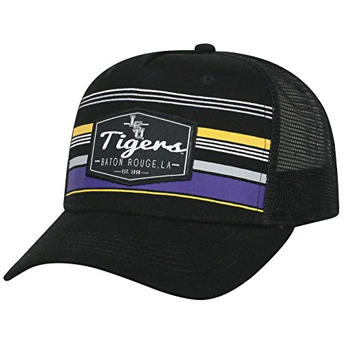 Top of the World LSU Tigers Official NCAA Adjustable Route Mesh Trucker Hat Cap Curved Bill 391687
