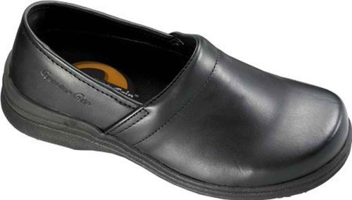 Men's Resistant Mule Genuine Slip Footwear Grip Black Leather PaqnfwRgwx