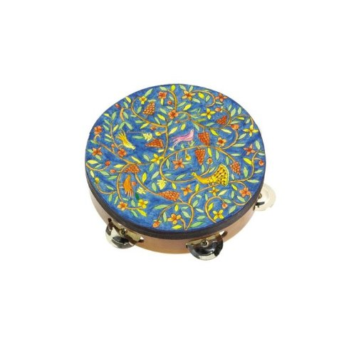 Yair Emanuel Tambourine -- Birds of the Orient by World of Judaica (Image #1)