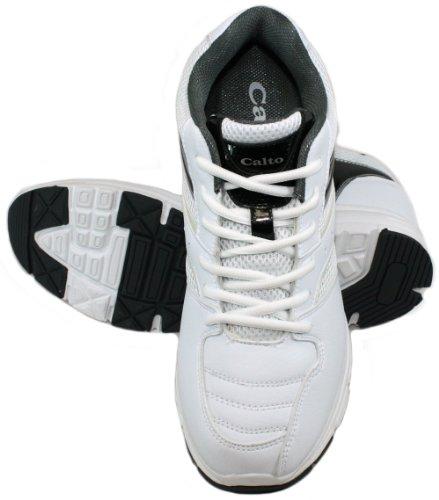Calto - G8811 - 3,2 Inches Längre - Höjd Ökande Hiss Skor (vit-och-svart Gymnastikskor)