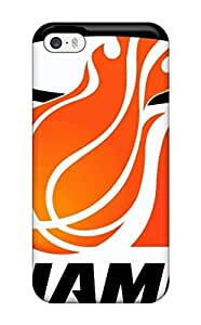 linJUN FENGProtection Case For Iphone 5/5s / Case Cover For Iphone(miami Heat Big Orange)
