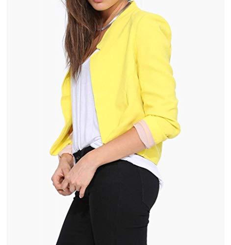 Branch Fit Longues Femme Blouson Printemps Loisir Manches Blazer Automne Slim wfzFFSBq