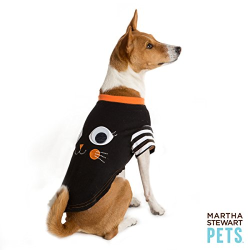 Martha Stewart Pets Pet Halloween Black Cat Dog T-Shirt~MEDIUM~