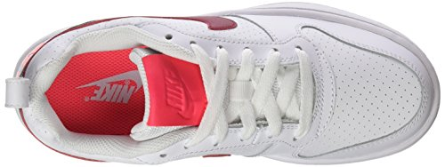 Nike Damen Court Borough Low Gymnastikschuhe Elfenbein (White/noble Red/solar Red/pure Platinum)