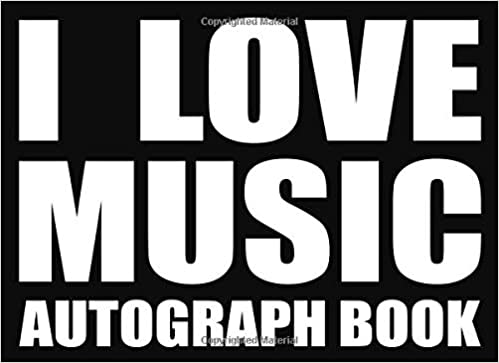 Eventful Ameli - I Love Music - Autograph Book: 50 Signature Slots - Notebook For School Clubs And Social Groups