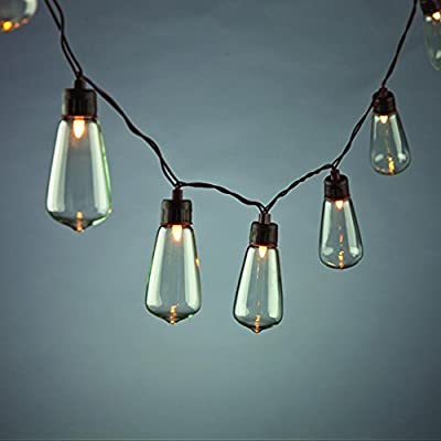 Gerson 93774 - 10 Light 6.5' Brown Wire ST35 Solar Warm White LED String (93774)