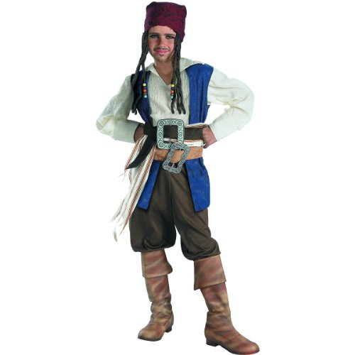 Standard Captain Jack Sparrow Costume - Child Medium (Jack Sparrow Boys Costume)
