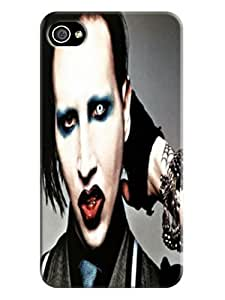 dustproof Attractive Cool Marilyn Manson fashionable Designed TPU Phone Accessories Case for iphone 4/4s Kimberly Kurzendoerfer