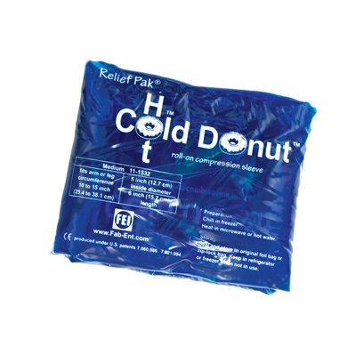 Relief Pak Cold N' Hot Donut Compression Sleeve - Medium (For 10-15'' Circumference) - Case Of 10 - 11-1532-10