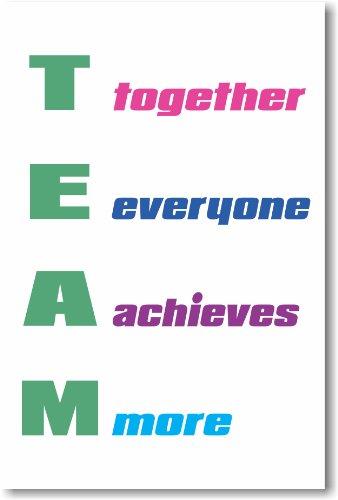 Team #2 - NEW Classroom Motivational Poster