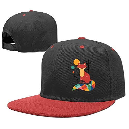 Rainbow Fox Children's Hip Hop Baseball Cap Sun Hat Adjustable by REXHBGS9GHBK