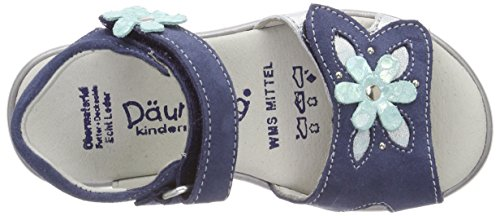 Däumling Ria - Sandalias con Punta Abierta Niñas Blau (Turino Jeans)