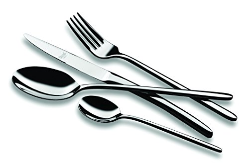 Mepra 108322024  Mosella Flatware 24-Piece Set ,metallic