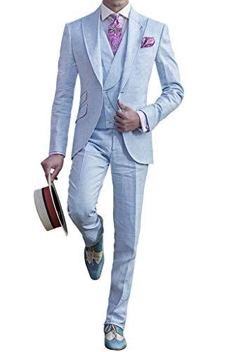 3 De Gilet Blazer Pantalon Hommes Bleu Costumes Dench Judi Costume Pièces Pour wqpIA7I