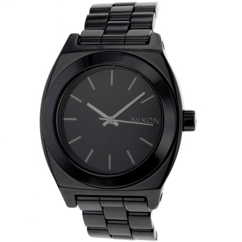(NIXON Men's A250-000 Stainless Steel Analog Black Dial Watch)