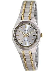 Casio Womens LTP1310SG-7AV Silver Stainless-Steel Quartz Watch with Silver Dial