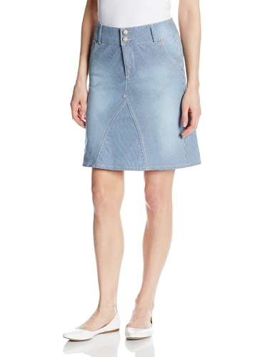 NYDJ Women's Ray A Line Skirt Jeans, Old West Wash, - Ray A Line